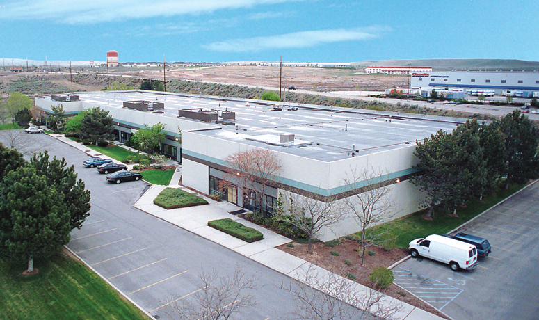 Aerial photo of Gowen Industrial Business Park