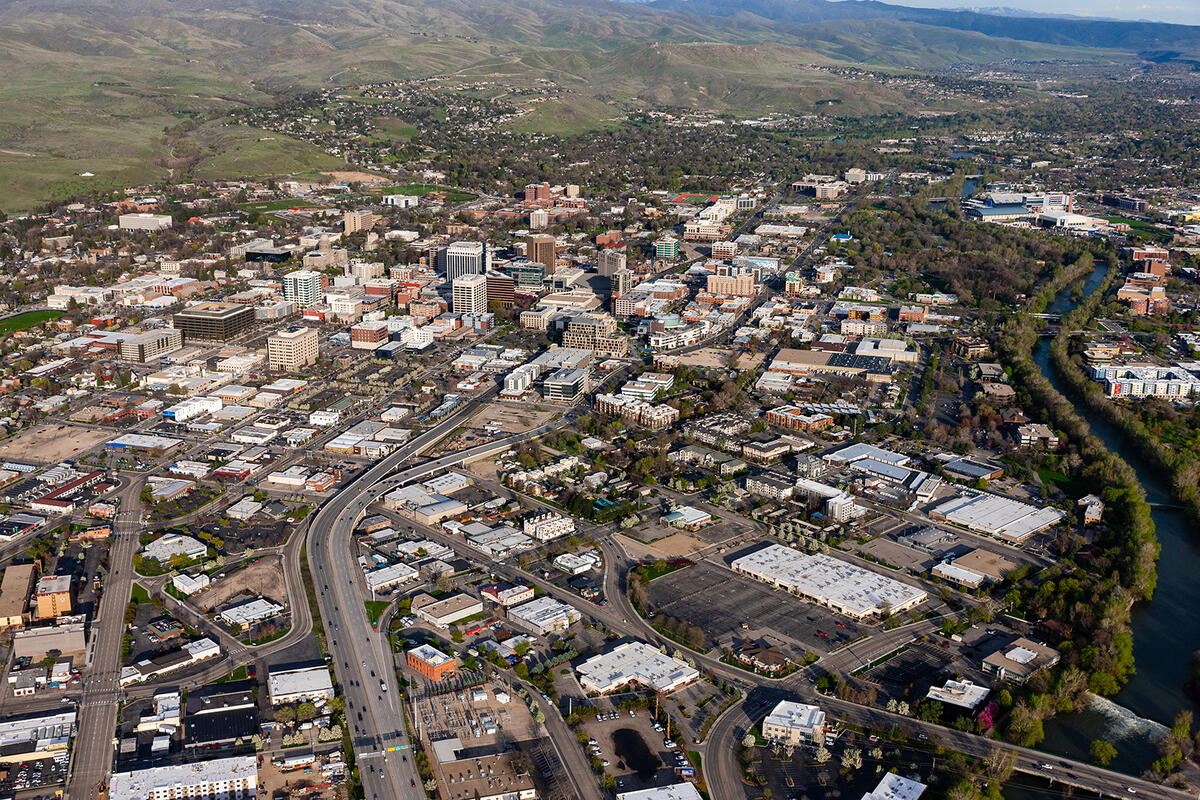 Aerial image of Downtown Boise Idaho