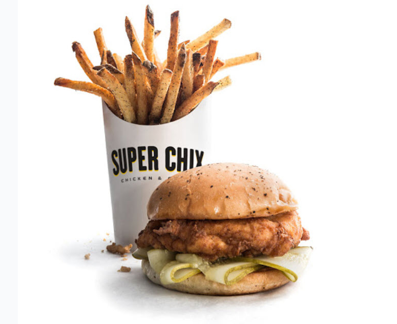 Super Chix restaurant french fries and sandwhich opens in Hillcrest Plaza