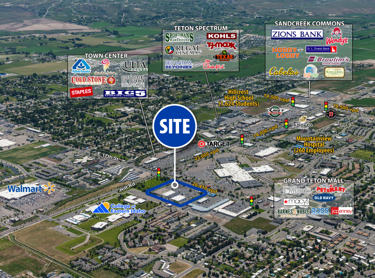Photo of Ashment Shopping Center | Located at 2395 E. 17th Street in Idaho Falls