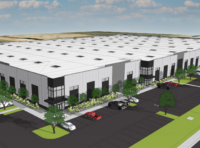 Rendering of New Meridian Industrial Building | Hickory Warehouse